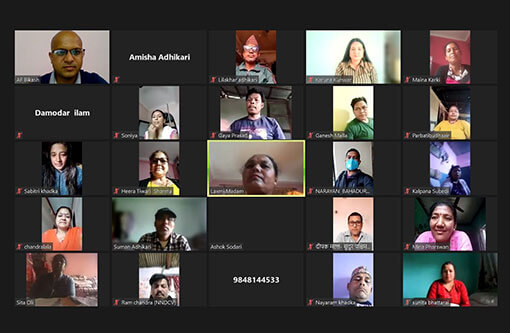 Advocacy Forum-Nepal (AF) Organized a Psychological Counseling Session (via zoom) for Conflict Victims on the Occasion of International Week of the Disappeared, 2021