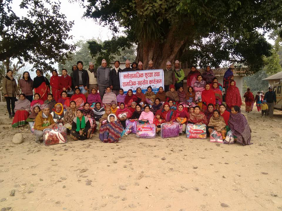 AF distributed sweaters, slipper and medicines for EQ Victims of Palpa